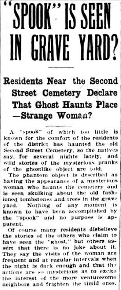 Ghost in 2nd St Grave Yard?