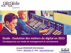 ALTAIDE : Etude Evolution des métiers du Digital