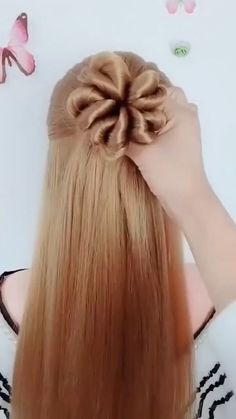 Pretty Braided Hairstyles, Easy Hairstyles, Hair Style Vedio, Red Hair Day, Split Dyed Hair, Honey Brown Hair, Hair Up Styles, Strawberry Blonde Hair, Long Hair Video