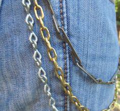 Jean Jewelry Jean Chains J 1 by stevenssteampunk on Etsy, $20.00