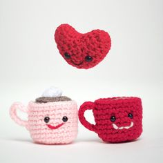 Wool Art by Layla Baird, Pin design by Olivier Chetelat, Valentine ❤️ Knitting Patterns, Crochet Patterns, Barbie, Wool Art, Happy Valentines Day, Holiday Fun, Knit Crochet, Arts And Crafts, Artsy