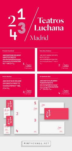 Brand New: New Logo and Identity for Teatros Luchana by Toormix - created via http://pinthemall.net