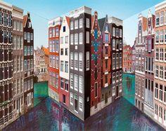 Patrick Hughes, Amsterdam, 2015, Winsor Gallery