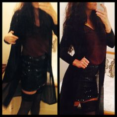 Vila skirt + topp lace Indiska