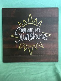 Items similar to You Are My Sunshine String Art on Etsy - rosalie String Wall Art, Nail String Art, String Crafts, Diy Wall Art, Wall Decor, String Art Tutorials, String Art Patterns, Doily Patterns, Dress Patterns