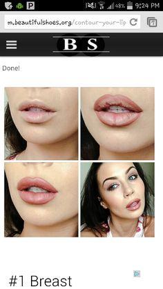 Fake pouty lips
