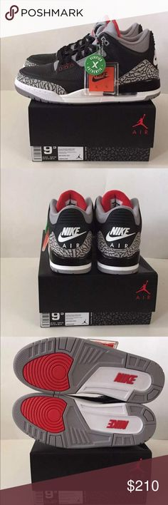 d71901946e98 Air Jordan 3 Retro Black Cement Nike OG Deadstock Retro Nike OG Black  Cements New In Box with Receipt StockX Verified Box Nike HangTag All  Original!
