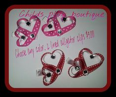 Valentine+heart+hairclips+by+childsplayboutique+on+Etsy,+$5.00