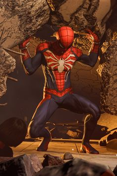 Spider-Man - - Ideas of - He is strong Spiderman Pictures, Spiderman Art, Amazing Spiderman, Hq Marvel, Marvel Heroes, Superhero Villains, Marvel Characters, Comic Kunst, Comic Art