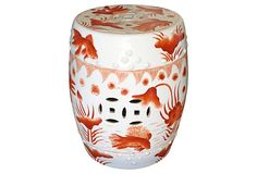 Goldfish Garden Stool, Red on OneKingsLane.com