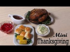Thanksgiving Dinner #2; Corn, Rolls, Mashed Potatoes etc. Polymer Clay Tutorial - YouTube