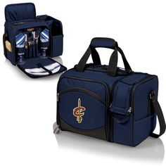 Whether you are going to the a tailgating party, concert or quite picnic for two, the Malibu cooler is for you!  Cleveland Cavaliers Malibu Picnic Service and Wine Cooler for 2