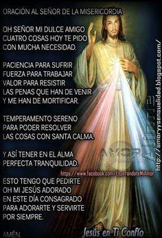 Jesús yo en ti confío God Prayer, Power Of Prayer, Daily Prayer, Spiritual Prayers, Prayers For Healing, Catholic Prayers In Spanish, Miracle Prayer, Beautiful Prayers, Bible Study Journal