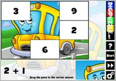 Practice additions with kids puzzles Puzzles For Kids, Bart Simpson, Photo Puzzle, Disney Characters, Fictional Characters, Costumes, Education, Math, Brain Teasers For Kids