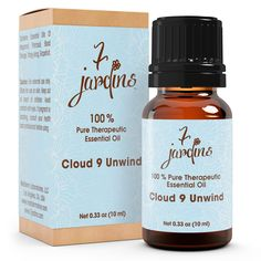 "7 Jardins Anxiety Reliever ★100% Pure Therapeutic Essential Oil ""Cloud 9 Unwind"" (10 ml) ★Natural Remedy for Stress, Depression & Tension ★Enriched with Plant Based Natural Ingredients"