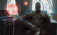 Beautiful and stylish science fiction themed digital paintings and illustrations from artist Brandon Liao. Arte Sci Fi, Sci Fi Art, Arte Cyberpunk, Character Concept, Character Art, Concept Art, Fantasy Kunst, Fantasy Art, Sci Fi Kunst