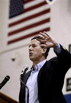 18 #prezpix #prezpixrs election 2012   Rick Santorum ABC News AP 3/2/12