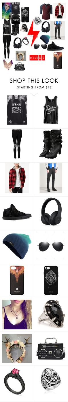 """""""Him & I"""" by lovelie-323 on Polyvore featuring WithChic, Boohoo, Superdry, Lanvin, Converse, Beats by Dr. Dre, Neff, County Of Milan, Fifth & Ninth and him"""