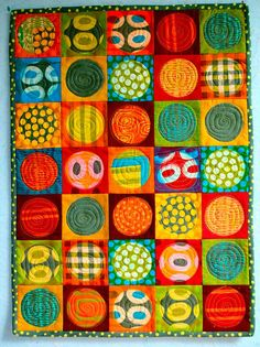 quilt by the talented Malka Dubrawsky-- such beautiful colors!