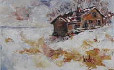 """""""Melting into the Landscape"""" by Tobie Liedes. Miniature painting"""