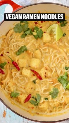 Veggie Recipes, Vegetarian Recipes, Dinner Recipes, Cooking Recipes, Vegan Ramen, Vegan Soup, Delicious Vegan Recipes, Healthy Recipes, Vegan Cookbook
