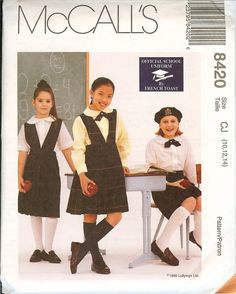 McCalls 8420 Girls School UNIFORM French Toast sewing pattern UNCUT Official…