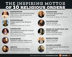 ~The Inspiring Mottos of 10 Religious Orders