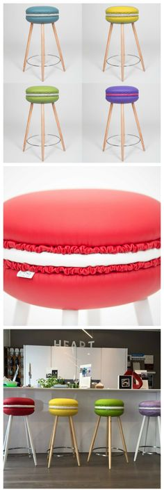 If i were to do a macaron store these would b perfect!  Makastool by LI VING, a design studio from Manfredonia. Coloured and sweet as a macaron.
