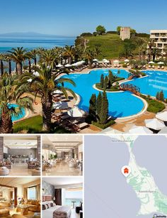 This hotel is located on the Kassandra Peninsula, the western of the 3 'fingers' of Halkidiki. Thessaloniki railway station is 70 minutes by car and the establishment is only 45 minutes from Thessaloniki Airport.