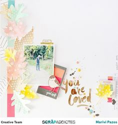 #papercraft #scrapbook #layout. You are loved by marivi at @studio_calico