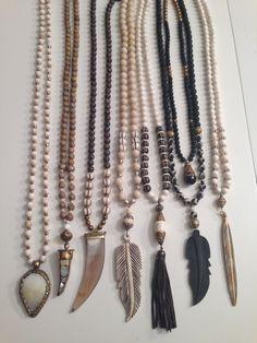 beaded necklaces, all one of a kind www.lisajilljewelry.com