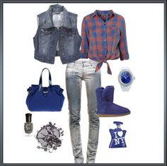 blues, created by mimieismannteneyck on Polyvore
