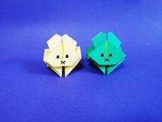 점프 토끼 종이접기 How to Make Paper Origami Jumping Rabbit - YouTube