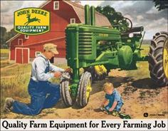 john deere tin signs - Google Search  I'd like to use these for decoration