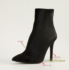 168.65$  Buy now - http://aliurb.worldwells.pw/go.php?t=32726142746 - Nubuck Leather  Women Pumps Solid Black Thin High Heels Fashion Boots Pointed Toe Factory Wholesale Shoes Rubber Boots