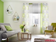 Unland Orbit, Fensterideen, Vorhang, Gardinen und Sonnenschutz - curtains, contract fabrics, pleated blinds, roller blinds and more. Made in Germany