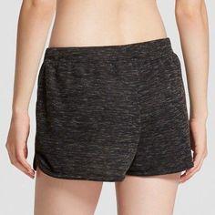 Women's Knit Sleep Shorts - Xhilaration - Heather Gray XS, Black