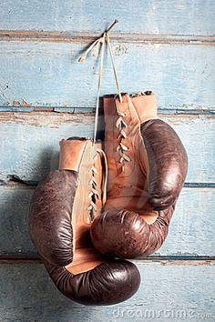 oude bokshandschoenen,