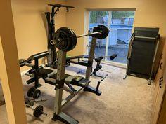 Home Gym Basement, Drafting Desk, Gym Equipment, Budget, Furniture, Home Decor, Small Kitchens, Decoration Home, Room Decor