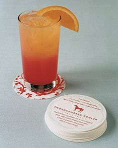 """See the """"Cocktails and Coasters"""" in our Signature Drinks from Real Weddings gallery"""