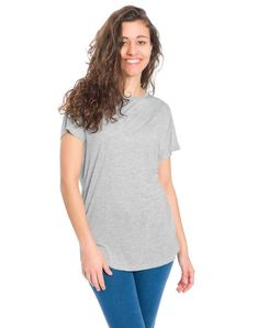 bleed T-shirt Lyocell (Tencel) Damen Chino Shorts, Loose Fit, Skinny, V Neck, Super, Tops, Women, Products, Fashion