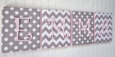 Wall Letters Nursery Decor Upholstered Letters par fabbdesigns