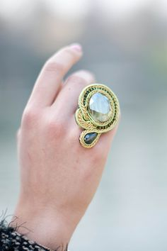 soutache ring by Edef Jewels
