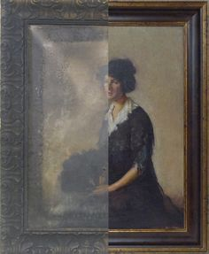 painting damaged by fire-restored