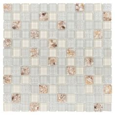<p>Create a bright new look for your home with this 12in. x 12in. square vera glass mosaic.</p><p>This square-shaped glass is an attractive design with a luminous look.</p><p>Glass tile mosaics and decorative accents can be used in a variety of ways to enhance kitchens bathrooms and other areas of your home. A stunning glass tile backsplash adds color and functionality to any kitchen or bath. The wide range of shapes and colors found in our glass presents a great way to express…