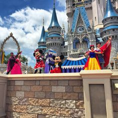 Mickey, Minnie, Snow White and Aurora
