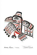 "Xuuya /"" MINT bronze Bill REID Northwest Coast Native Haida art card /"" Raven"