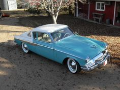 Baby blue '56 Studebaker Hawk...Re-pin...Brought to you by #CarInsurance at #HouseofInsurance in Eugene, Oregon.