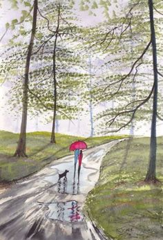 """""""Forest Rain~Afternoon Stroll"""" by K.J. Carr"""