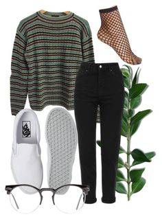 """are you nasty"" by qimmig on Polyvore featuring Prada, Topshop, Vans, Wolford and Spitfire"